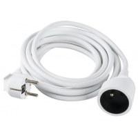 Prolongateur câble souple blanc Dhome - H05 VV-F 3G 1,5 mm² - Longueur 10 m