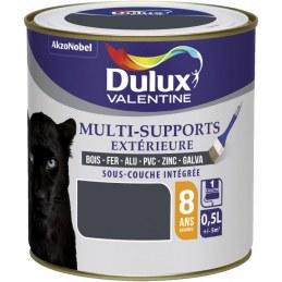 Peinture multi-supports extérieure - Satin - 0.5 L - Gris sombre - DULUX VALENTINE
