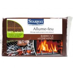 Allume-feu cheminée, barbecue 100% naturels de 28 carrées - STARWAX