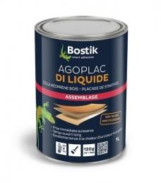 Colle contact liquide avec Durcisseur Incorporé - Agoplac Di Liquide - 1 L - BOSTIK
