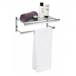 Porte-serviettes Ovalys - Chrome et verre - ALLIBERT