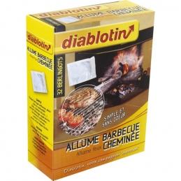 Allume feux - Cheminées et Barbecue - 32 berlingots - DIABLOTIN