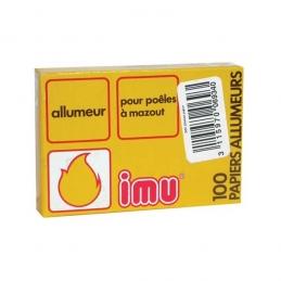 Allume-feux pour poêles à mazout - 100 papiers allumeurs - LIEM