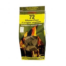 Allume-feux écologiques - 72 cubes Origine Végétale - ACTIFEU