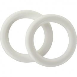 Anneauxen plastique Blanc - Diamètre 20 mm - Vendu par 10 - ATELIER 28