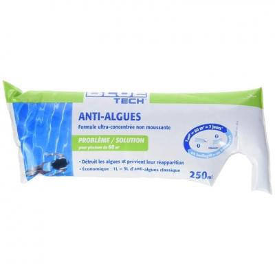 Berlingot anti-algues - Ultra-concentré - Grand bassin - 250 ml - BLUE TECH