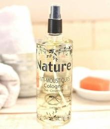 Eau de cologne Nature - Anti-moustiques - Thé & Citronelle - 125 ml - CADENTIA