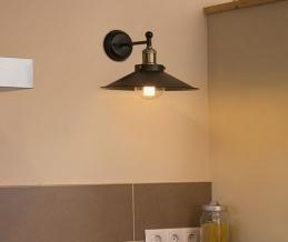 Lampe applique Marlin - Noir - FARO