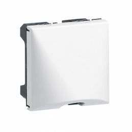 Sortie de câble avec serre-câble Mosaic - Blanc - 2 modules - LEGRAND