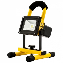 Projecteur LED portatif 120 ° et rechargeable - 10 Watts - AVIDE