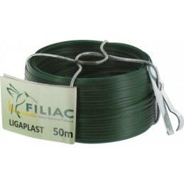 Bobinot de lien Ligaplastpour grillage - Vert - 50 M x 2.5 mm - FILIAC