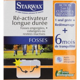 Réactivateur longue durée - Fosses bloquées - 500 Grs - STARWAX