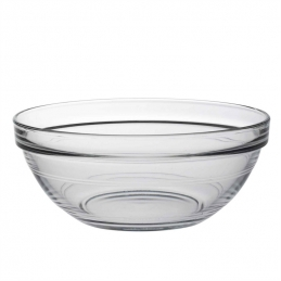 Saladier empillable en verre trempé - 17 cm - Transparent - DURALEX