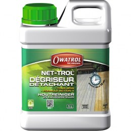 Dégriseur bois - Dégraissant pour bois tropicaux - Nettoyant - 1 L - OWATROL