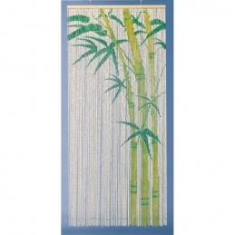 Rideau de porte en Bambou - Peint à la main - 90 x 200 cm - MOREL