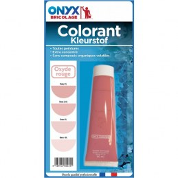 "Colorant universel ""Colortech"" - Oxyde rouge - 60 ml - ONYX"