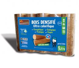 Bois densifié - Ultra calorifique - 5 bûches - WOODSTOCK