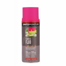 Aérosol de peinture - Effet Fluo - Fuschia - 400 ml - SINTO