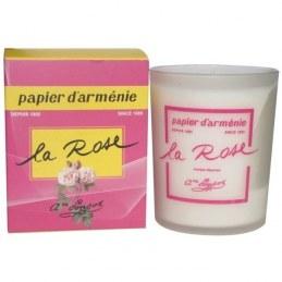 Bougie parfumée - Papier d' Arménie à la Rose