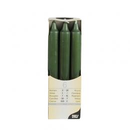 Bougies de table - Ø 2,1 cm · 19,6 cm - Vert foncé - Lot de 6 - PAPSTAR