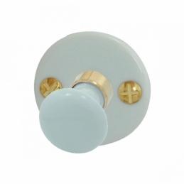 Bouton sur rosace rond - Porcelaine - Blanc - Condannation - DT 2000