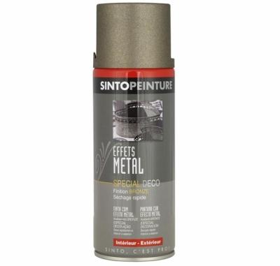 Peinture aérosol - Effet métal - Bronze - 400 ml - SINTO