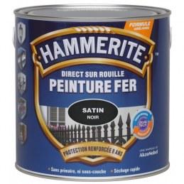 Peinture fer - Noir brillant - 750 ml - HAMMERITE