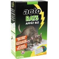 Appât rats et mulots - Blé entier - 20 sachets de 20 Grs - ACTO