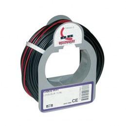 Câble hifi - 2x0.5 mm² - bobinot 25 m - rouge et noir de ELECTRALINE