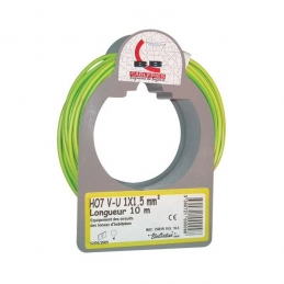 Couronne de 100 M - Vert / Jaune - H07 V-U 2,5 mm² - ELECTRALINE