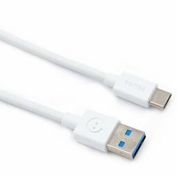 Câble universel Type-C vers USB 3.0 - Blanc - 1 M - WATT&CO