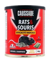 Rats et souris - Efficacité radicale - Céréales - 100 Grs - CAUSSADE