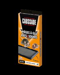 2 Pièges à glu - Rats et souris - Prêt à l'emploi - CAUSSADE