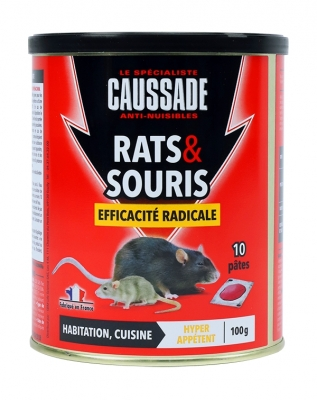 Rats et souris - Efficacité radicale - Pat-Appât - 100 Grs - CAUSSADE