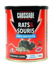 Rats et souris - Forte infestation - Pat-Appât - 150 Grs - CAUSSADE