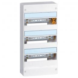 Coffret à équiper - 3 rangées 13 modules - 500 x 250 x 103,5 mm - avec borniers - LEGRAND