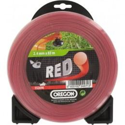 Fil rond pour débrousailleuse - Nylon - RED - 2.4 mm x 83 M - OREGON