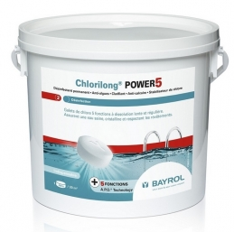 Chlore multifonctions en galet - Chlorilong® POWER 5 - 5 Kg - BAYROL