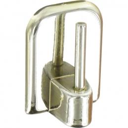 Support adhésif en plastique pour Tringle ovale - Chromé - Vendu par 4 - ATELIER 28