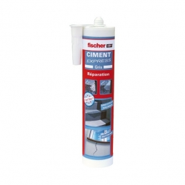 Ciment Express - Prêt à l'emploi - Gris - 310 ml - FISCHER