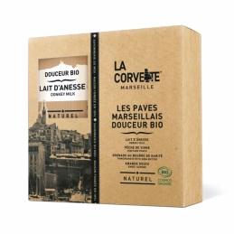 Coffret Pavés Marseillais Douceur Bio - 4 parfums - LA CORVETTE
