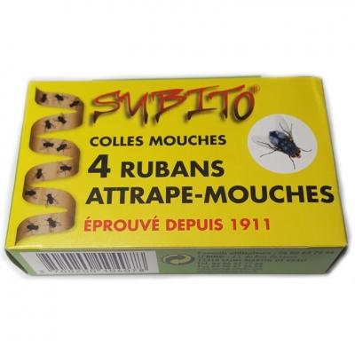 4 rubans attrape-mouches - Colles mouches - SUBITO