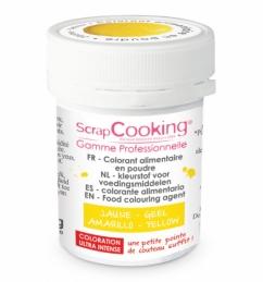 Colorant alimentaire en poudre jaune - SCRAPCOOKING