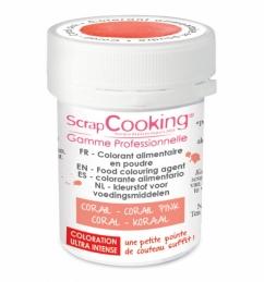 Colorant alimentaire en poudre corail - SCRAPCOOKING
