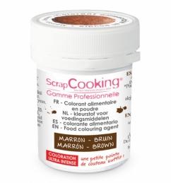 Colorant alimentaire en poudre marron - SCRAPCOOKING