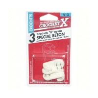 Crochet béton nylon - n°3 - lot de 3 - CROCHET X