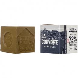 Cube de Savon de Marseille - Olive - 200 Grs - LA CORVETTE