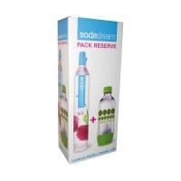 Cylindre CO2 60 L + 1 bouteille PET bulles de couleur 1 L de SODASTREAM