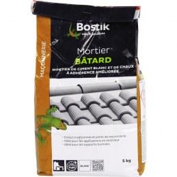 Mortier Batard blanc - Séchage rapide - 5 Kg - BOSTIK