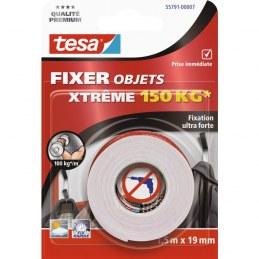 Ruban adhésif Fixer objets double face Xtrême Tesa - Largeur 19 mm - Longueur 1,5 m
